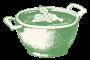 open serveerschaal groen